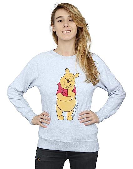 ef54586d774e Disney Women s Classic Winnie The Pooh Sweatshirt X-Small Heather Grey