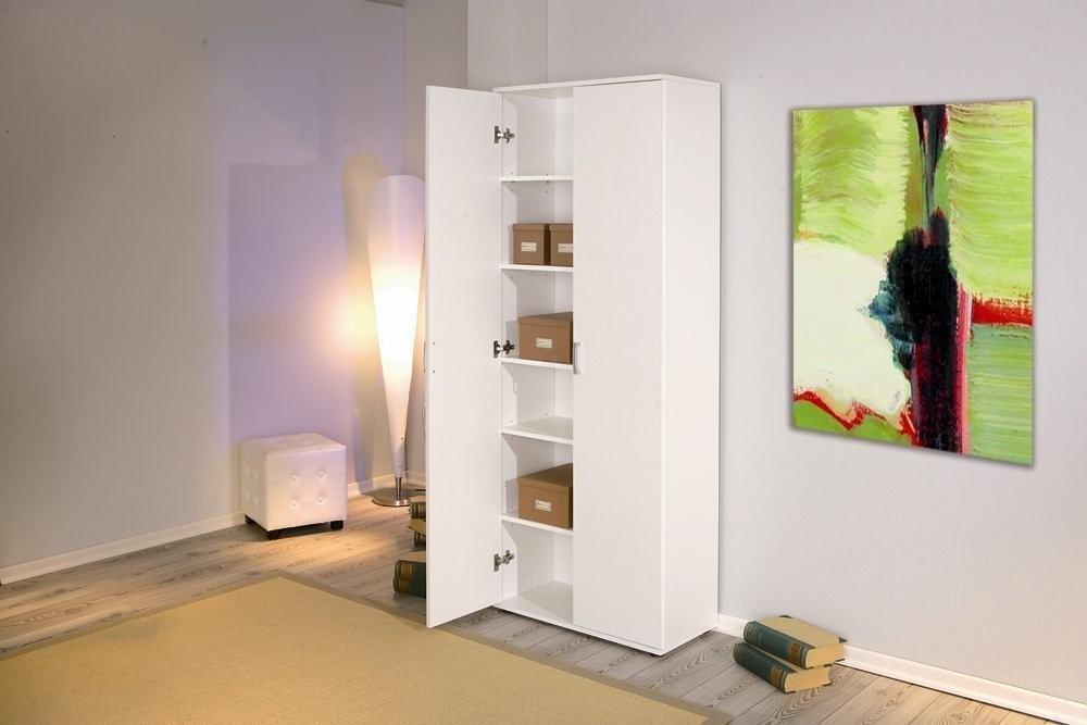 Büroschrank weiß  Büroschrank Aktenschrank Arconati Melamin weiß 2 Türen 5 Fachböden ...