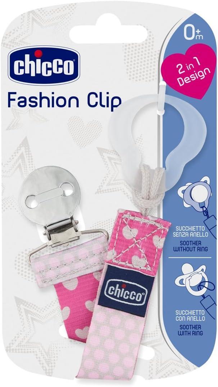 Clip portachupete con cadena Chicco