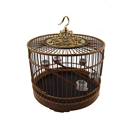 Ffshop Jaula para Pájaros Jaula de pájaros de Material de bambú ...