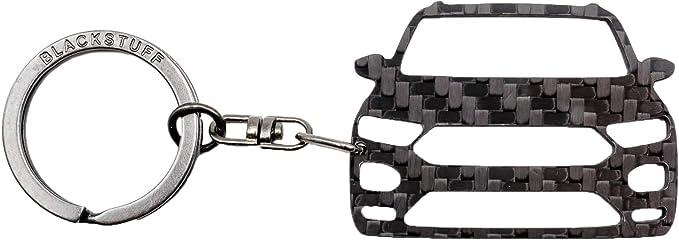 Blackstuff Carbon Karbonfaser Schlüsselanhänger Kompatibel Mit T Roc 2017 Bs 915 Auto
