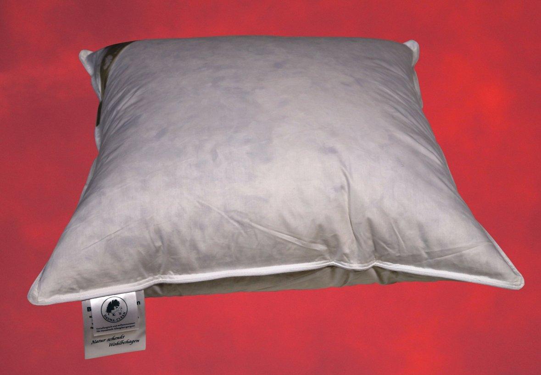 45x45 cm Kuschelkissen Innenkissen Füllkissen Federkissen Kissen in creme 500 g
