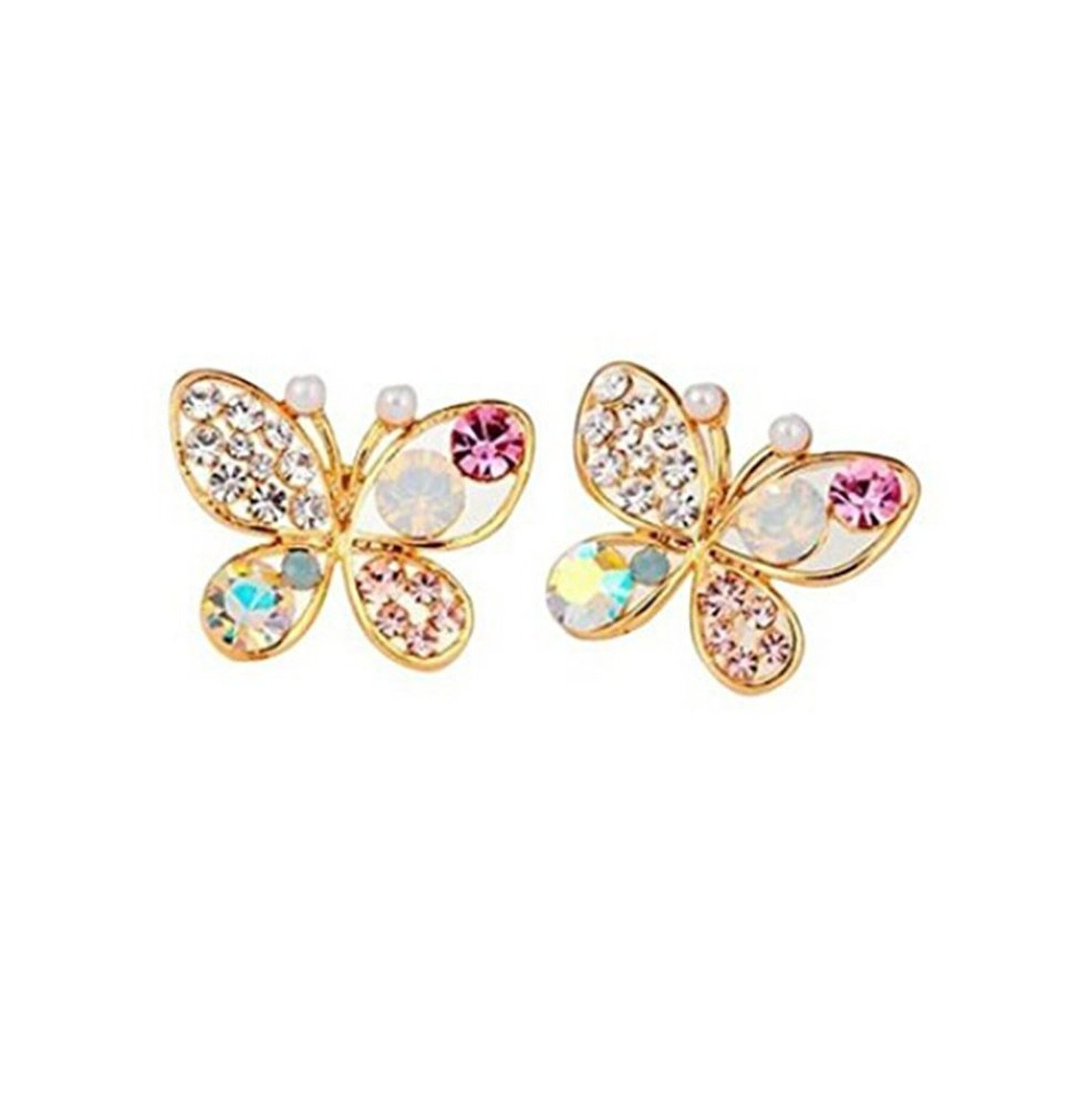 TR OD Hollow Out Colorful Shining Bling Crystal Rhinestone Cute