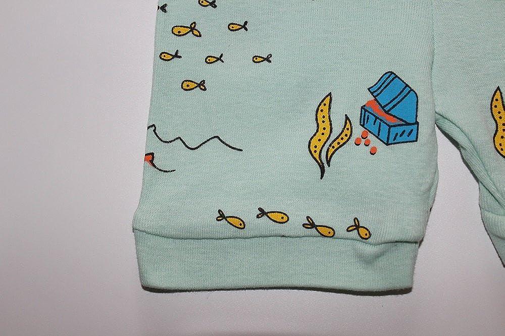 YUYAOBABY Deep sea Diving Cartoon Pattern Boys Short Sleeves Shorts Pajamas Cozy