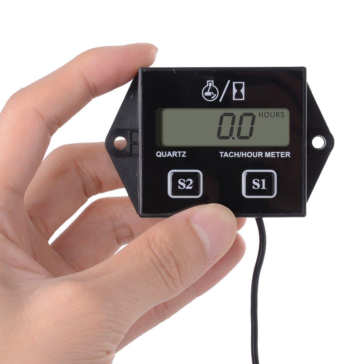 Amazon XCSOURCE Digital Tach Hour Meter Timer Tachometer – Digital Tachometer Wiring Spark Plug