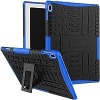 """SCIMIN Lenovo Tab 410Funda, Lenovo Tab 410Funda híbrida, Doble Capa a Prueba de Golpes híbrido Rugged Case Carcasa rígida con función Atril para Lenovo Tab 4de 10.1"""" 10(tb-x304°F), Azul"""