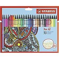 Premium-Filzstift - STABILO Pen 68 - 30er Pack - mit 30 verschiedenen Farben