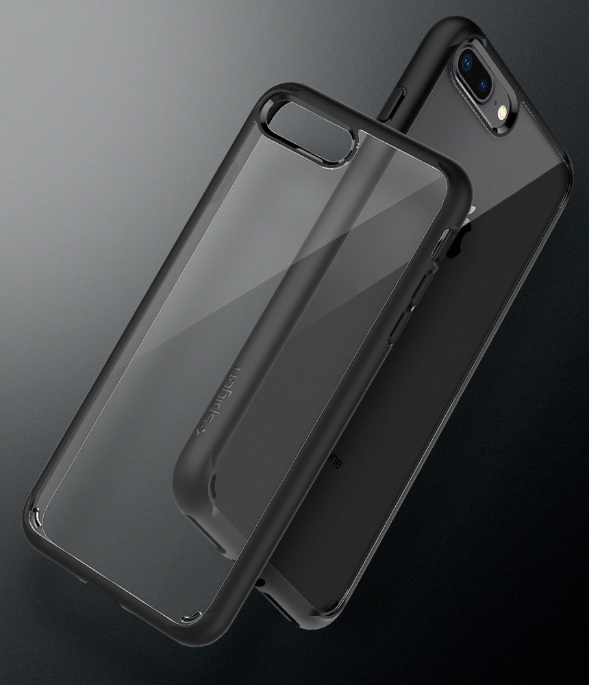Spigen Ultra Hybrid [2nd Generation] iPhone 7 Plus Case/iPhone 8 Plus Case with Clear Backing and Air Cushion Technology for iPhone 7 Plus (2016)/iPhone 8 Plus (2017) - Black by Spigen (Image #2)