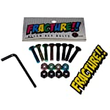 "Fracture Coloured Allen Key Skateboard Bolts 1"" set of 8 and allen key and free sticker"
