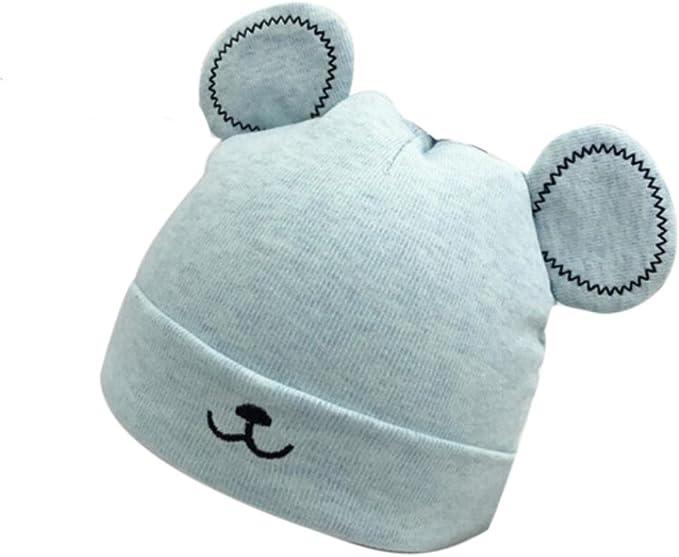Ruiqas Baby Hut Kleinkind Winter Warm Gestrickte Ohrenklappe Hut f/ür 0-3Y Babys