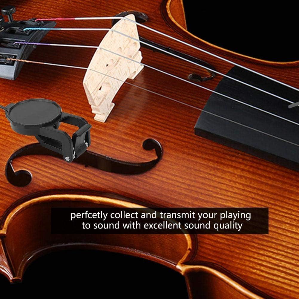 Gitarrenakustik Tonabnehmer Clip On Piezo Kontakt Mikrofon Violine Cello W 35