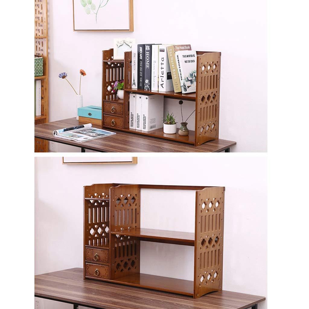 Librerías Estante para Libros Estantería de bambú Estante de Mesa ...