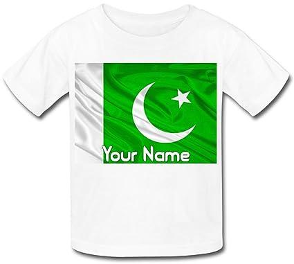 e978d0b3 Babysmiles Personalised Pakistan Flag Kids T-Shirt: Amazon.co.uk: Clothing