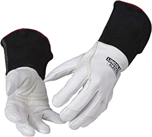 Lincoln Electric Premium TIG Welding Gloves | Top Grain Leather | High Dexterity | Medium | K2983-M