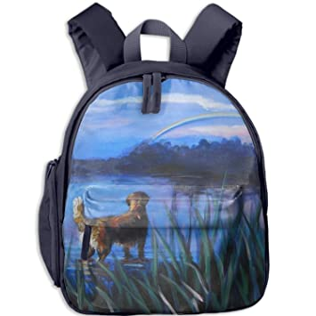 Amazoncom Golden Retriever Dog Art Backpack Purse Back To School