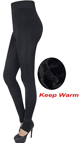 9c72bd95779276 Image Unavailable. Image not available for. Color: Hioffer Fleece Lined  Leggings For Women Winter Warm Tights High Waisted Elastic Leggings Pants