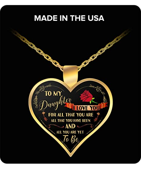 Amazoncom To My Daughter Necklace For Her Love Gift Valentines