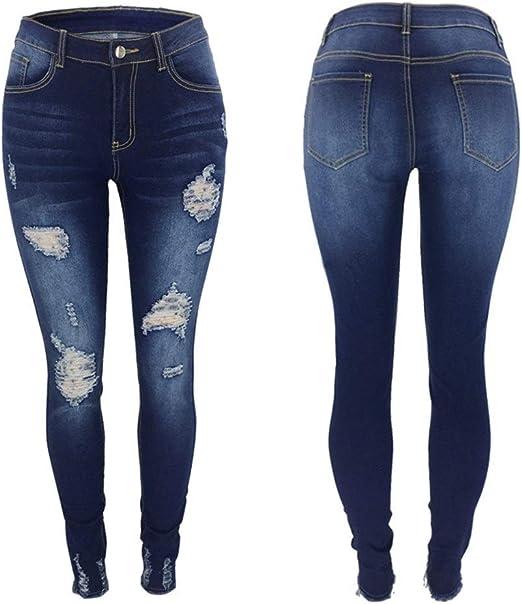 女性の グフラ スリム穴のジーンズの足パンツXL クスリミン
