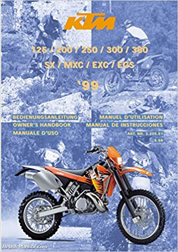 2004 ktm 125 sx owners manual