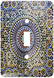 3dRose lsp_132003_1 Mosaic Wall for Fountain, Fes, Morocco, Africa Af29 Kwi0083 Kymri Wilt Light Switch Cover