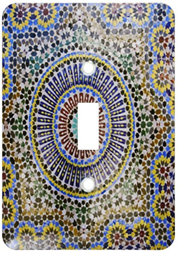 3dRose lsp_132003_1 Mosaic Wall for Fountain, Fes, Morocco, Africa Af29 Kwi0083 Kymri Wilt Light Switch - Amerelle Ceramic