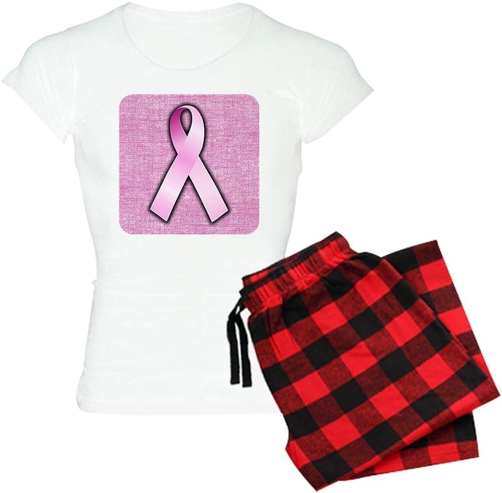 Royal Lion Womens Light Pajamas Breast Cancer Pink Ribbon