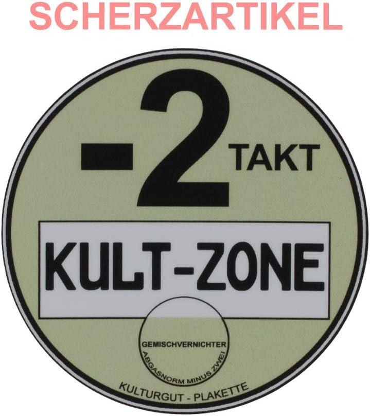 Sticker Kulturgutplakette Kult Zone Auto