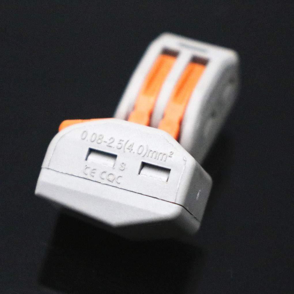 fish 10PCS 222-412 PCT212 PCT212 Compacto Universal Alambre cableado Conector de 2 Pines del Conductor del Bloque de terminales de la Palanca