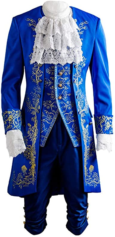 US Beauty and the Beast Halloween Cosplay Costume Adult Men Outfit Coat Vest