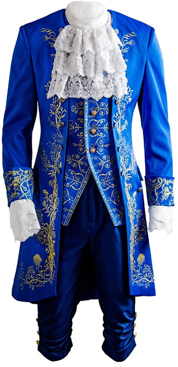 Amazon.com: SIDNOR Beauty and The Beast Prince Dan Stevens Blue Uniform  Cosplay Costume Outfit Suit: Clothing