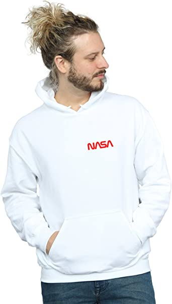 Absolute Cult NASA Homme Modern Logo Pocket Sweat À Capuche