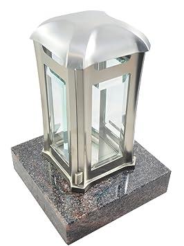 EMSL06 Farol de acero inoxidable con base de granito para tumba