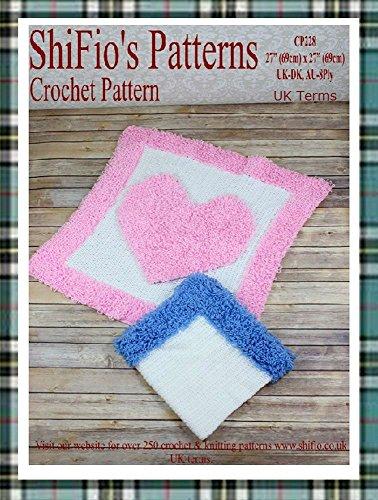 Crochet Pattern - CP228 - Baby Loopy Heart Blanket Afghan - UK Terminology