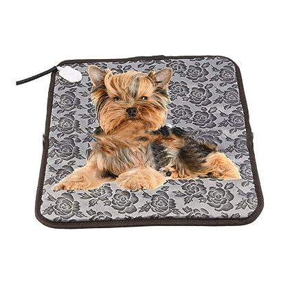 0 ℃ Outdoor Manta Eléctrica para Mascotas, Almohadilla de Calefacción para Perros y Gatos con