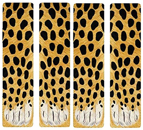 3D Socks Unisex Adult Big Kids Animal Paw Crew Socks - Sublimated Print (2Pairs Leopard)