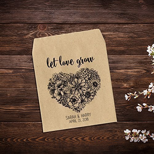 Amazon Heart Wedding Favors Seed Packet Favor Custom Seed