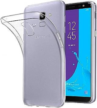 REY - Funda Carcasa Gel Transparente para Samsung Galaxy J6 2018 ...
