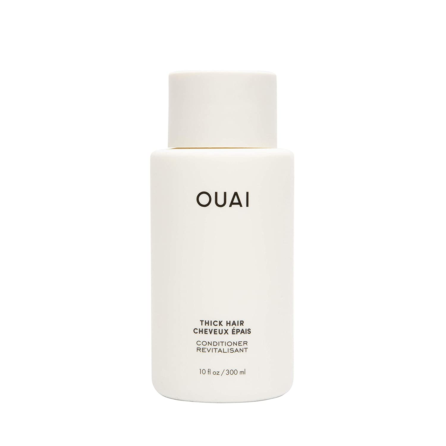 OUAI Thick Conditioner. Strengthening Keratin, Marshmallow Root, Shea Butter and Avocado Oil Nourish Dry, Thick Hair and Calm Frizz. Free from Parabens, Sulfates and Phthalates (10 oz)