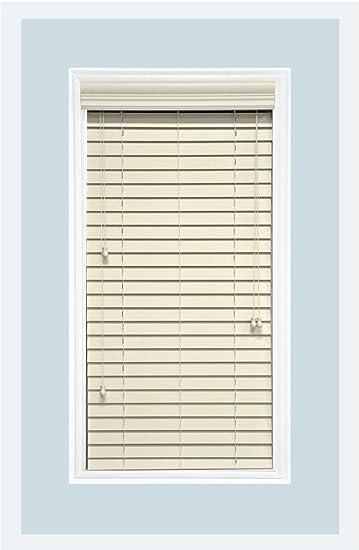 Amazon.com: Custom-Made, Faux Wood Horizontal Window Blinds, 2 ...