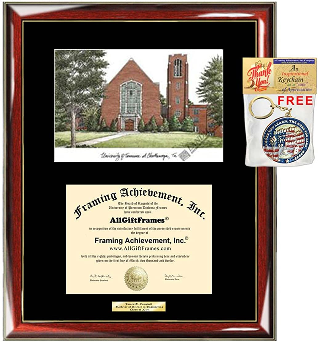Amazon Com University Of Tennessee Chattanooga Utc Diploma Frame Lithograph Graduate Gift Graduation Degree Framing Plaque Certificate Holder Case University Frame Clothing