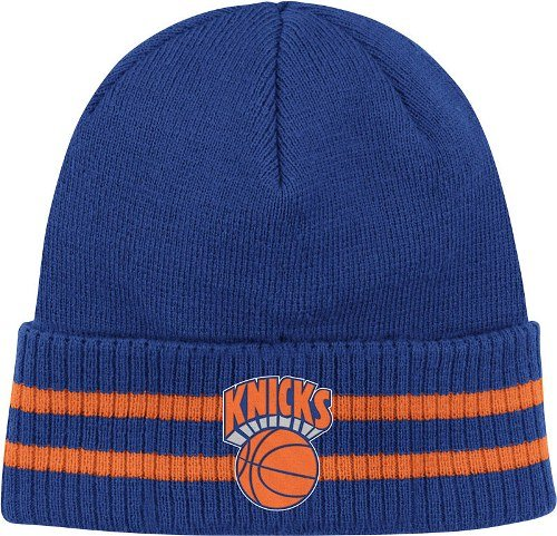 best website bb19a 7616d New York Knicks Mitchell   Ness NBA Vintage Stockey Stripe Cuffed Knit Hat