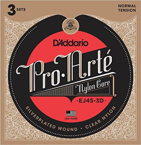 Pro Arte Strings (D'Addario EJ45 Pro-Arte Classical Guitar Strings 3-Pack)