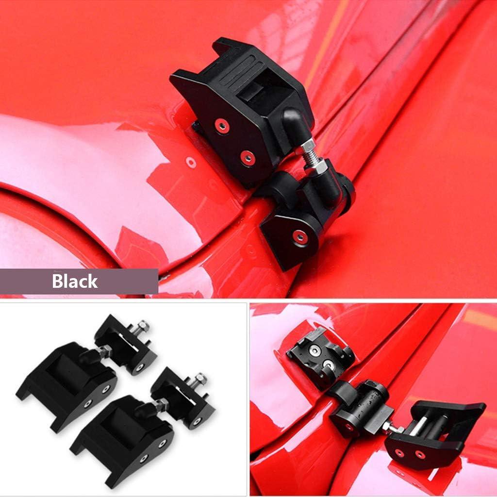 Kit di bloccaggio in Metallo per Cofano Motore Jeep Wrangler JK Unlimited Rubicon 2008 2009 2010 2012 2013 2014 2015 2016 2017 Senoow
