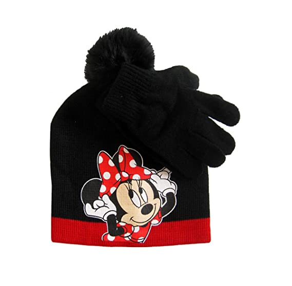 38ec56c0102 Amazon.com  Disney Little Girls Minnie Mouse Character Hat and Glove Cold  Weather Set