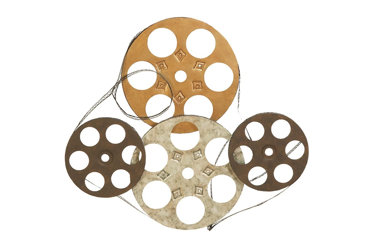 buy metal wall decor set of four film reels online at low prices in