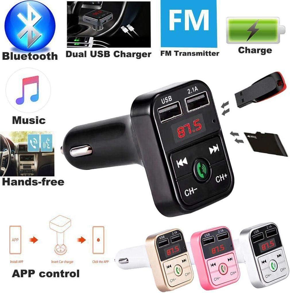 Uzinb B2 Transmetteur FM sans Fil Bluetooth Voiture Affichage de Tension USB 2.1A TF Chargeur Allume-Cigare Musique Free Hand Mini MP3