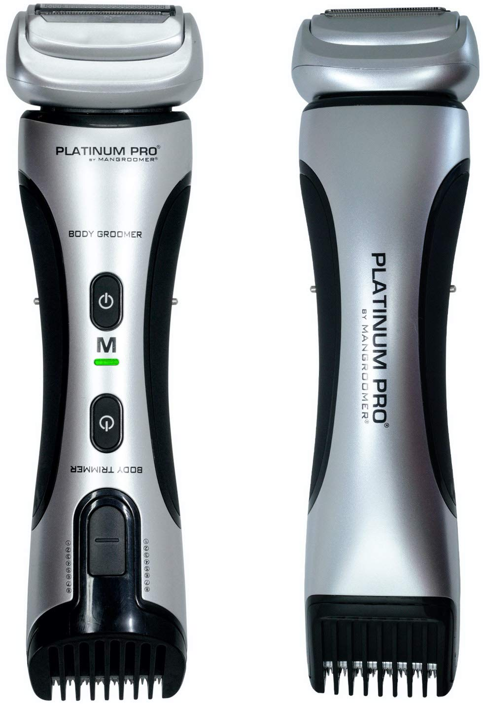 PLATINUM PRO by MANGROOMER - New Body Groomer, Ball Groomer and Body Trimmer with Lithium Max Battery, Bonus Extra Foil and Storage Case! (Generation 8.0)