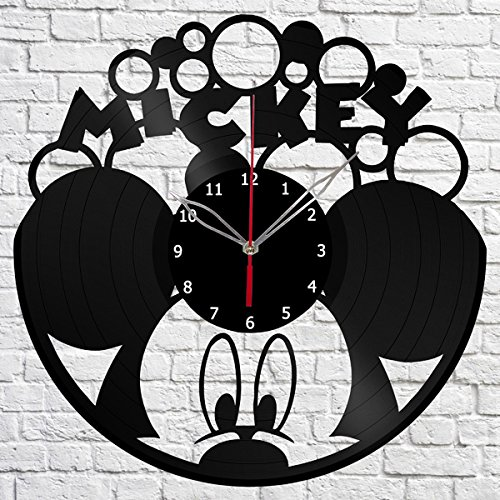 Amazon.com: Mickey Mouse Vinyl Record Wall Clock Fan Art Handmade Decor Original Gift Unique Decorative Vinyl Clock 12