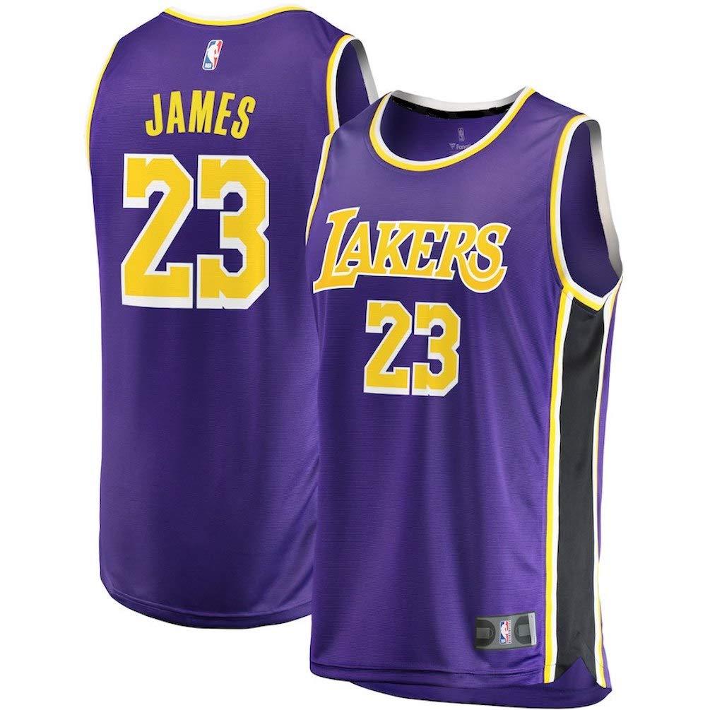 Fast Break Lebron Lakers Replica Jersey Purple - Statement Edition