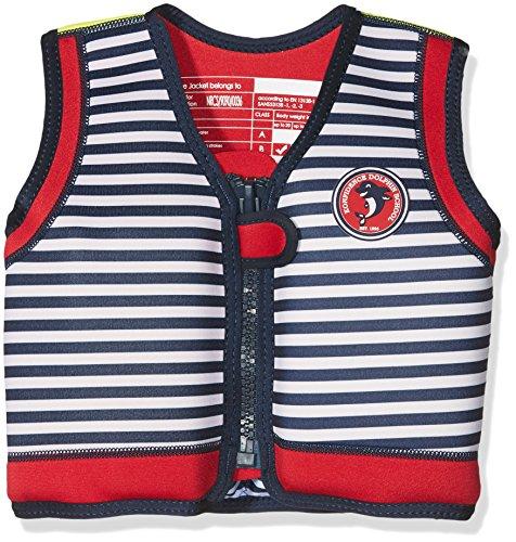 The Original Konfidence Children's Swim Jacket - Hamptons Navy Stripe (18 Months-3 Years)
